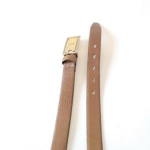 Vintage Yves Saint Laurent 100% Leather Belt.